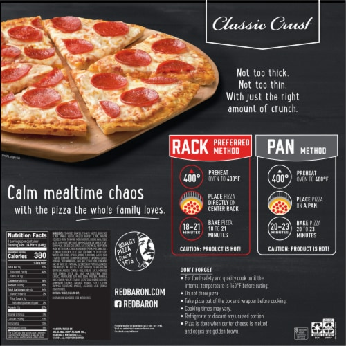 Red Baron Classic Crust Pepperoni Pizza Perspective: back
