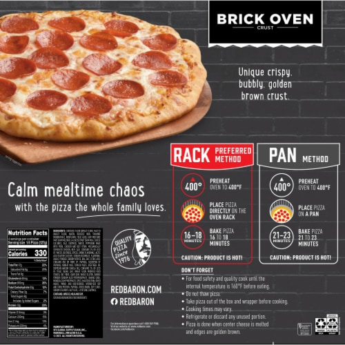 Red Baron Brick Oven Crust Pepperoni Pizza Perspective: back