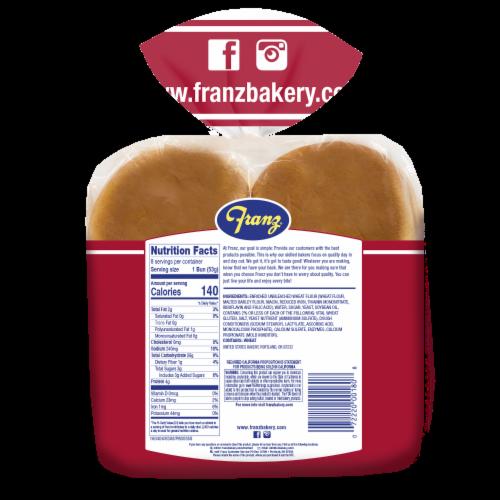 Franz® Hamburger Buns Perspective: back