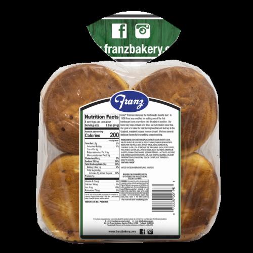 Franz® Onion Premium Hamburger Buns Perspective: back