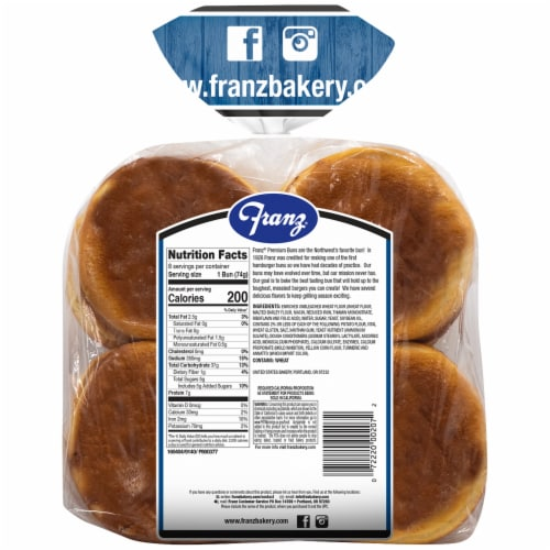 Franz® Bar-B-Que Country Potato Hamburger Buns Perspective: back