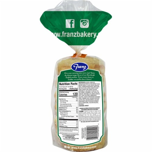 Franz® Sourdough English Muffins Perspective: back