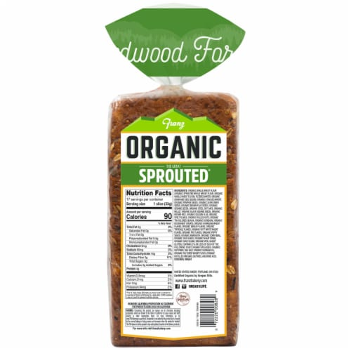 Franz® Organic The Great Sprouted Bread Perspective: back
