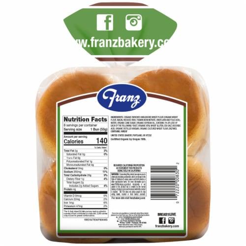 Franz® Organic Hamburger Buns Perspective: back