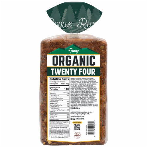 Franz® Organic Rogue River Twenty Four Grains and Seeds Bread Perspective: back