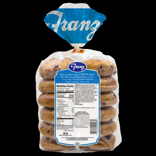 Franz® New York Bagel Boys® Blueberry Premium Mini Bagels Perspective: back