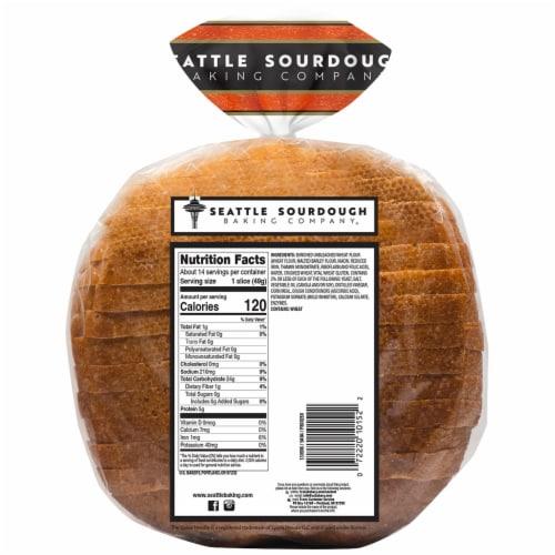 Seattle International Cracked Wheat Sourdough Bread Perspective: back