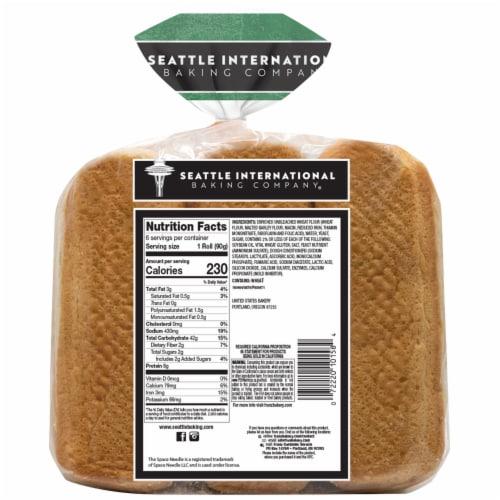 Seattle International Baking Company Sourdough Hoagie Rolls Perspective: back