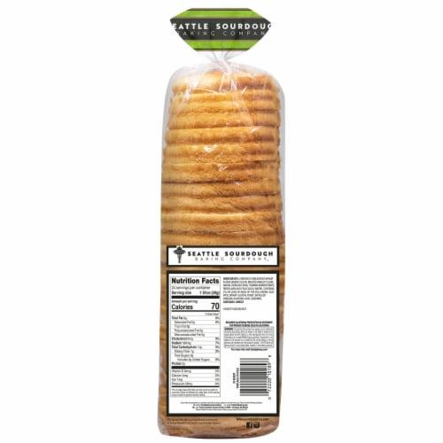 Seattle Sourdough Baking Co. Sandwich Round Sourdough Bread Perspective: back