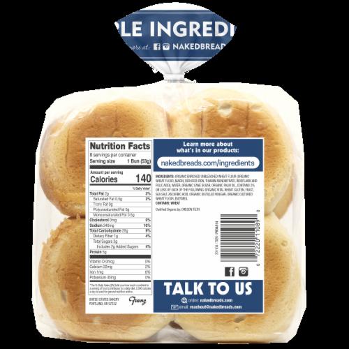 Naked Bread® Organic Hamburger Buns Perspective: back