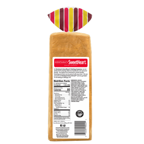 Montana's Sweetheart® Cracked Wheat Bread Perspective: back
