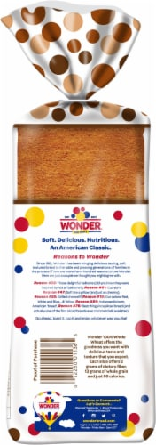 Wonder® 100% Whole Wheat Sliced Bread Perspective: back