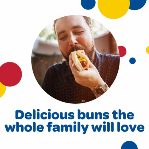 Wonder Classic Enriched Hot Dog Buns Perspective: back