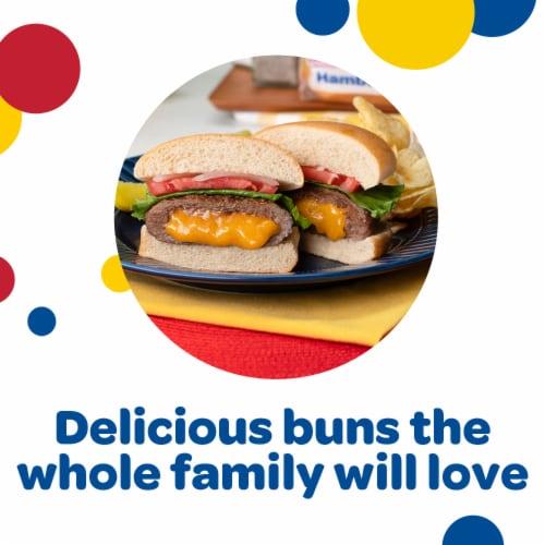Wonder Classic Enriched Hamburger Buns 8 Count Perspective: back