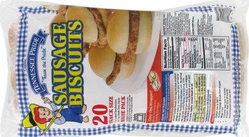 Odom's Tennessee Pride Sausage Biscuits Perspective: back