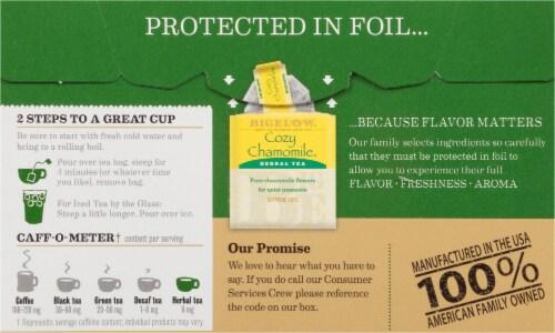 Bigelow Assorted Herbal Tea Bags Variety Pack Perspective: back
