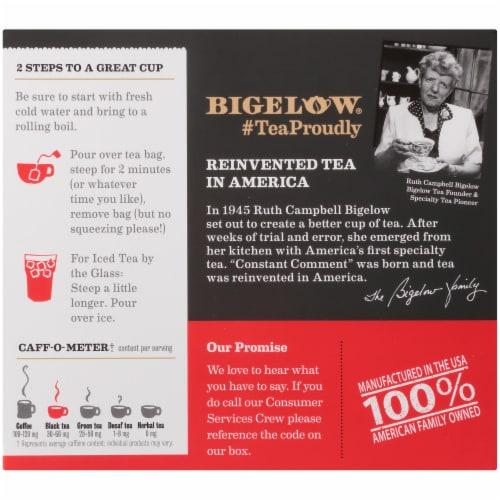 Bigelow Constant Comment Black Tea Bags Perspective: back