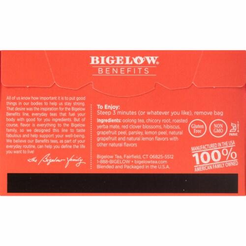 Bigelow Benefits Lean and Fit Citrus & Oolong Tea Bags Perspective: back