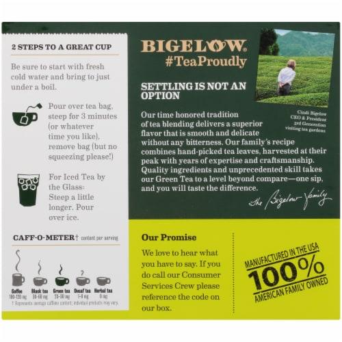 Bigelow Green Tea Perspective: back