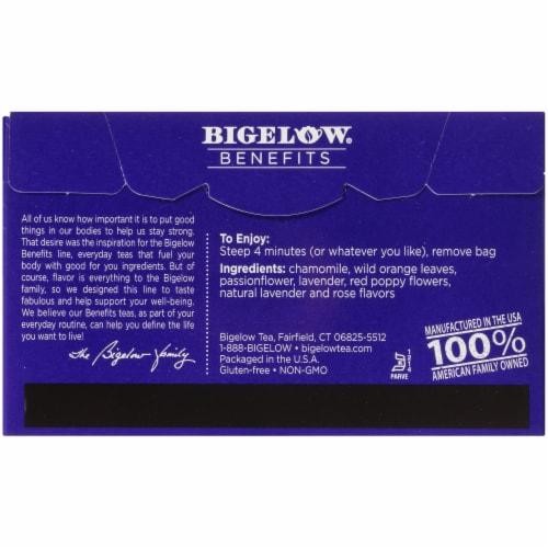 Bigelow® Benefits Sleep Chamomile & Lavender Herbal Tea Bags Perspective: back