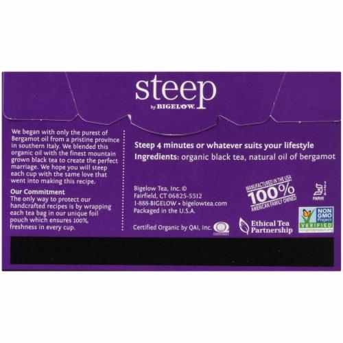 Bigelow Steep Organic Early Grey Black Tea Perspective: back