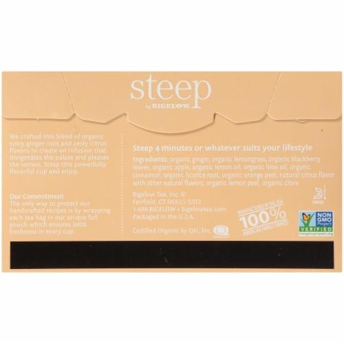 Bigelow Steep Organic Lemon Ginger Herbal Tea Perspective: back