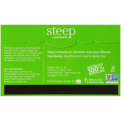 Bigelow Steep Organic Pure Green Decaffeinated Tea Perspective: back