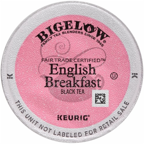 Bigelow English Breakfast Fair Trade Certified Black Tea K-Cup® Pods Perspective: back