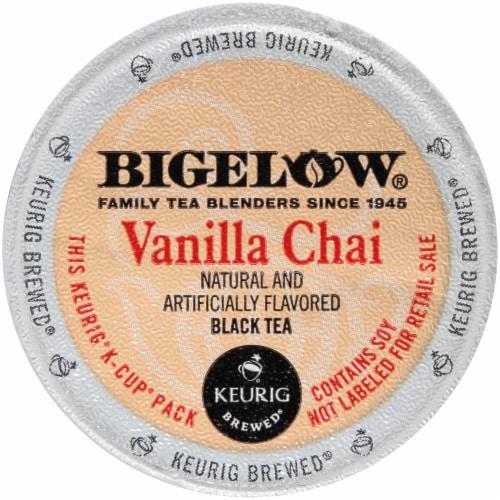 Bigelow Vanilla Chai Black Tea K-Cup® Pods Perspective: back