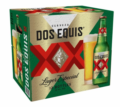 Dos Equis XX Especial Lager Beer Perspective: back