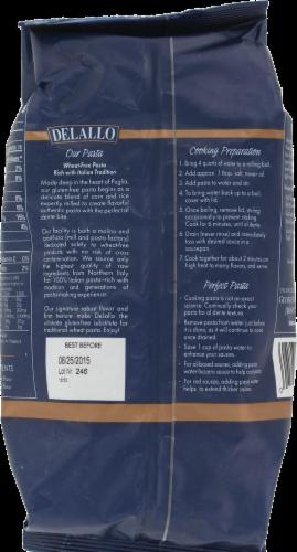 DeLallo Fusilla Gluten Free Pasta Perspective: back