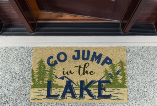 DII Jump in the Lake Doormat Perspective: back