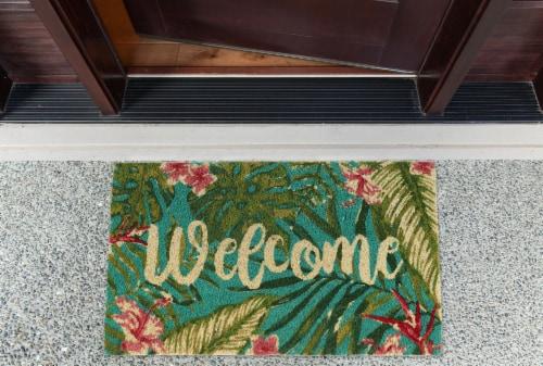 DII Tropical Welcome Doormat Perspective: back