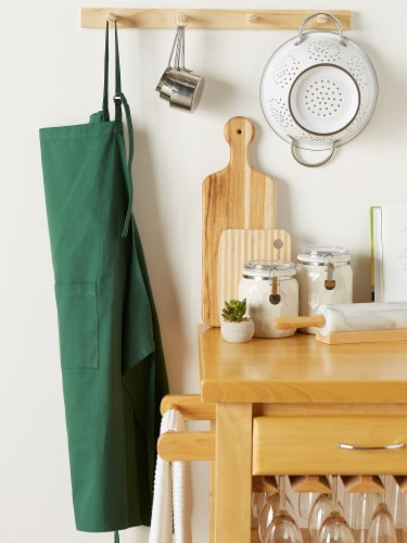 DII Dark Green XL Chef Apron Perspective: back