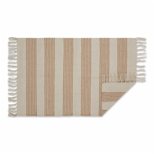 Dii Stone Ticking Stripe Hand-Loomed Rug 2X3 Ft Perspective: back