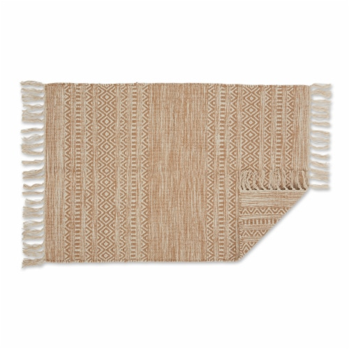 Dii Stone Textured Dobby Hand-Loomed Rug 2X3 Ft Perspective: back