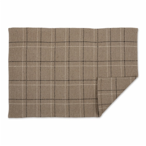 Dii Stone Variegated Plaid Recycled Yarn Rug  (Set Of 2) Perspective: back