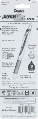 Pentel EnerGel RTX Liquid Black Gel Pens Perspective: back