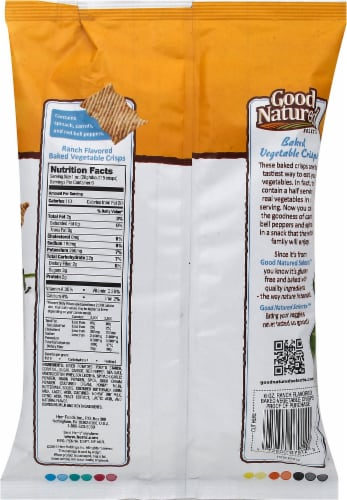 Good Natured Selects Gluten-free Baked Vegetable Crisps - Ranch Perspective: back