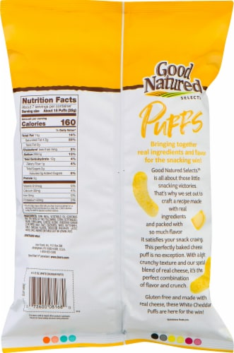 Good Natured Selects Gluten-Free White Cheddar Puffs Snack Perspective: back