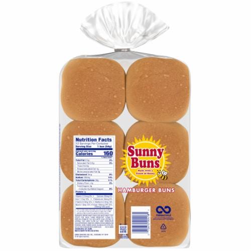 Heiner's Sunny Buns Hamburger Buns Perspective: back