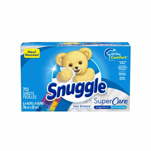 Snuggle Super Care Sea Breeze Dryer Sheets Perspective: back