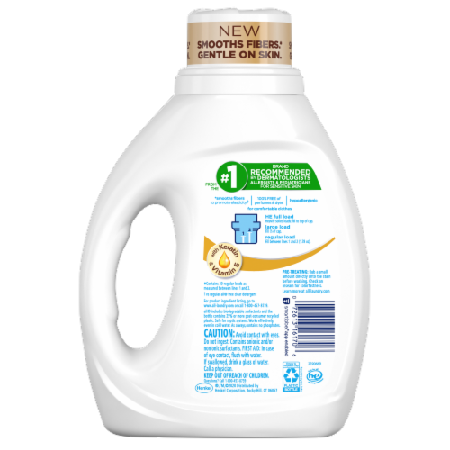 All Stainlifter Free & Clear Clean & Care Laundry Detergent Perspective: back
