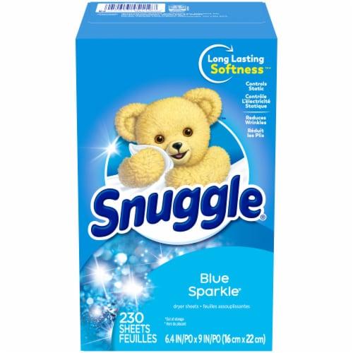 Snuggle® Blue Sparkle Dryer Sheets Perspective: back