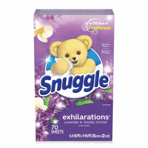 Snuggle Exhilarations Lavender & Vanilla Orchid Fabric Conditioner Dryer Sheets Perspective: back