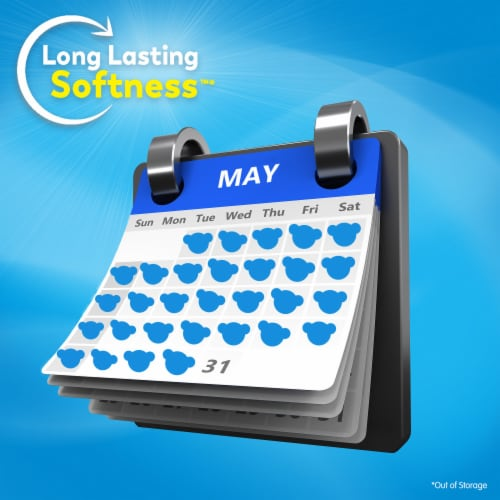 Snuggle Ultra Blue Sparkle Liquid Fabric Softener Perspective: back