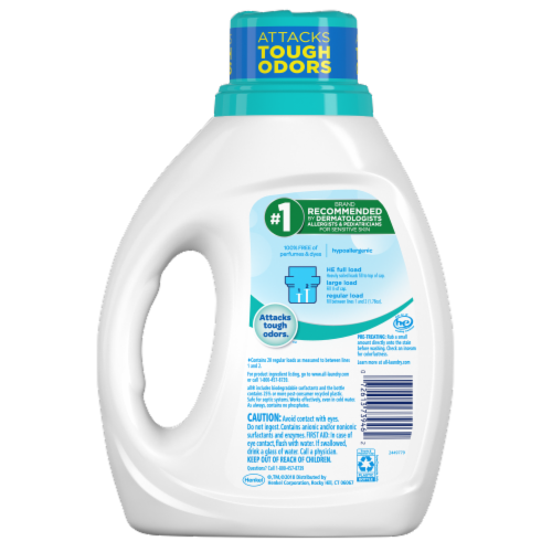 All with Stainlifters Free Clear Odor Relief Liquid Laundry Detergent Perspective: back