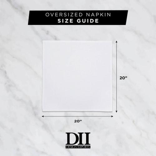 DII Color Pop Plaid Napkin (Set of 6) Perspective: back