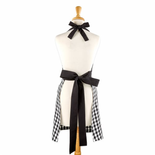 DII Black/White Gingham Apron Perspective: back