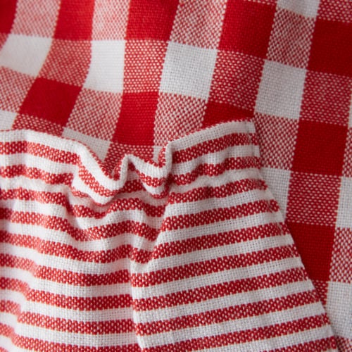 DII Red/White Gingham Apron Perspective: back